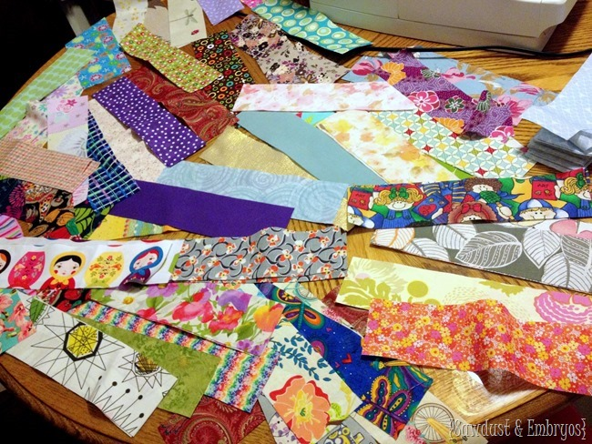 Making a sentimental baby quilt {Sawdust and Embryos}