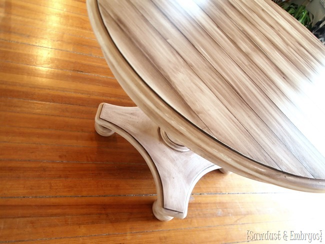 How to paint a table to look like wood {Sawdust and Embryos}