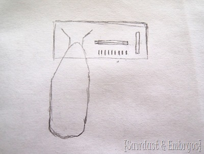Sketch for laundry room organizer {Sawdust and Embryos}