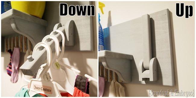 laundry room ironing board wall organizer