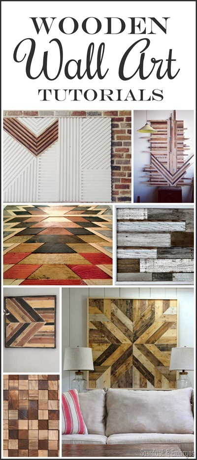 Vintage Awesome Wooden Wall Art Tutorials Sawdust and Embryos