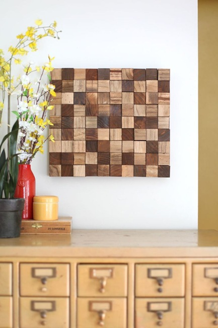 DIY Artwork out of Wood Scraps