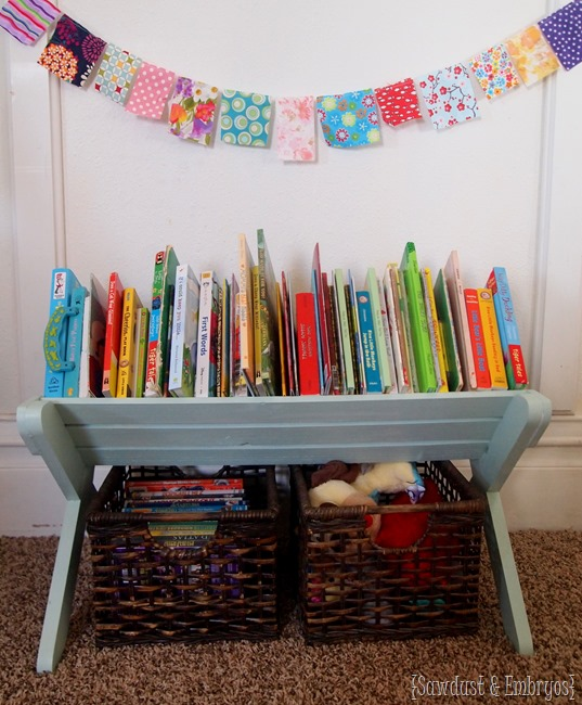 DIY Children's Book Caddy ~ FREE PLANS! {The Sawdust Maker} #organization #storage