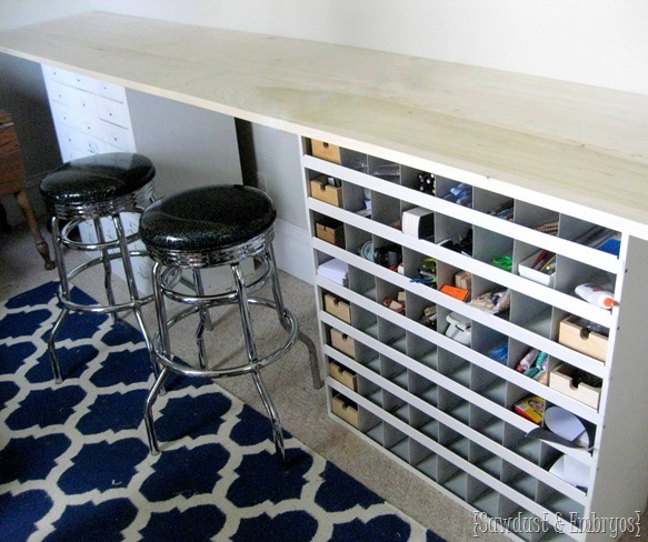 DIY Counter top workbench for craft room {Sawdust and Embryos}