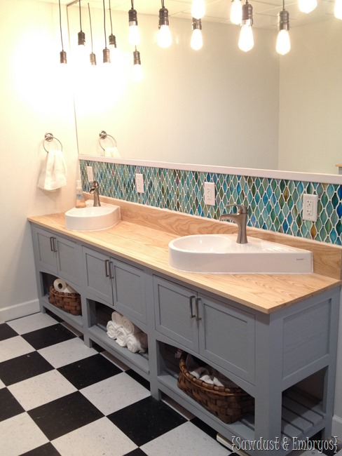 DIY Shaker-style Bathroom Vanity {Sawdust and Embryos}
