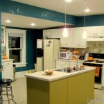 The kitchen is no longer teal