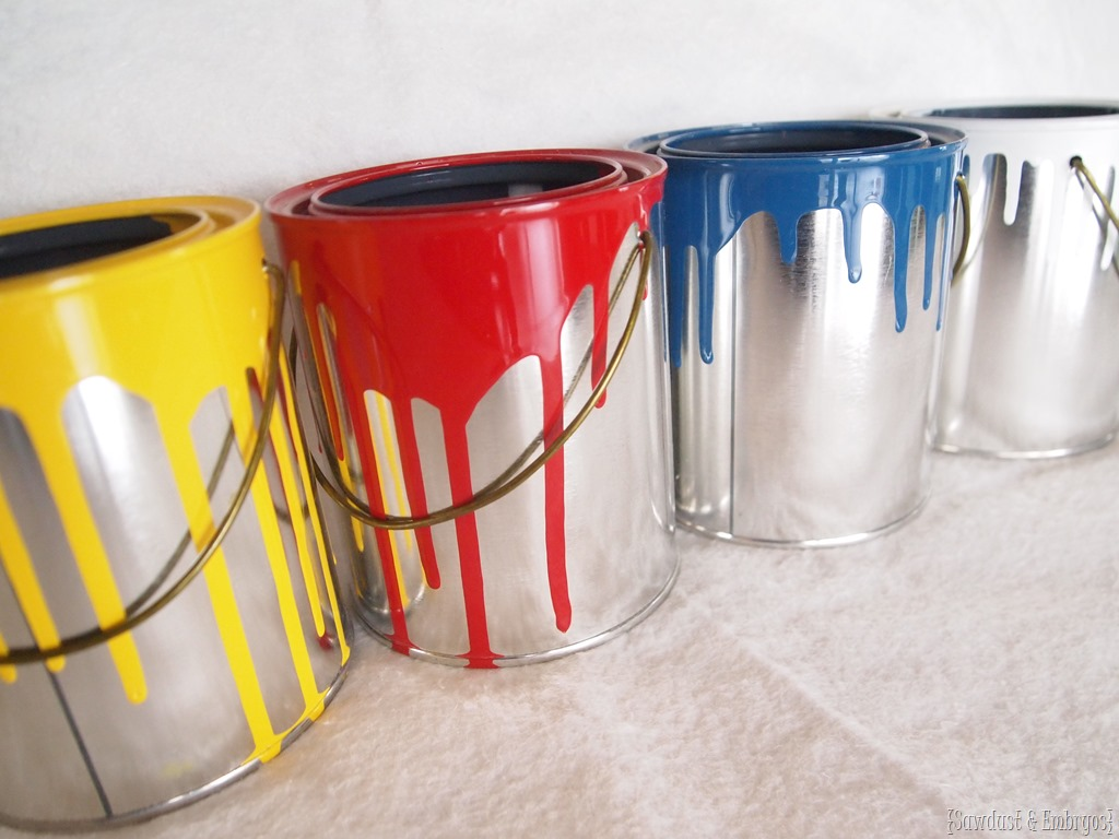 Mini Dipped Paint Can Planters - Reality Daydream