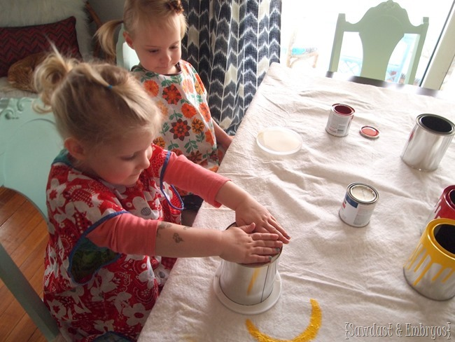 Drippy Paint Can project {Sawdust and Embryos}