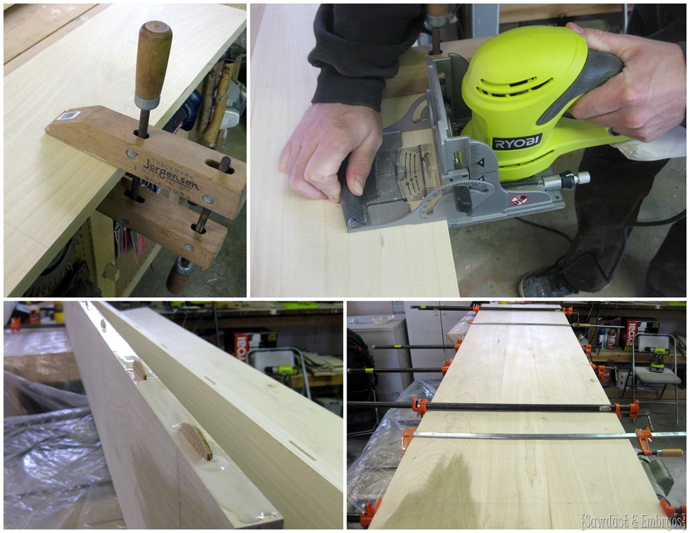 Countertop Joiner : Make a simple wooden countertop using a biscuit joiner {Sawdust and ...