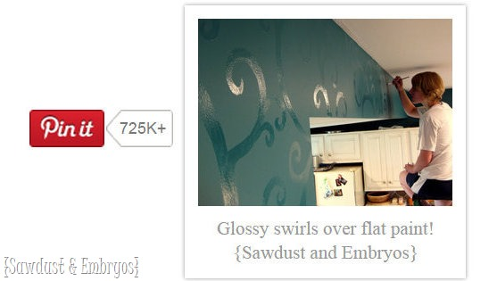 My kitchen has been pinned over 700,000 times! {Sawdust and Embryos}