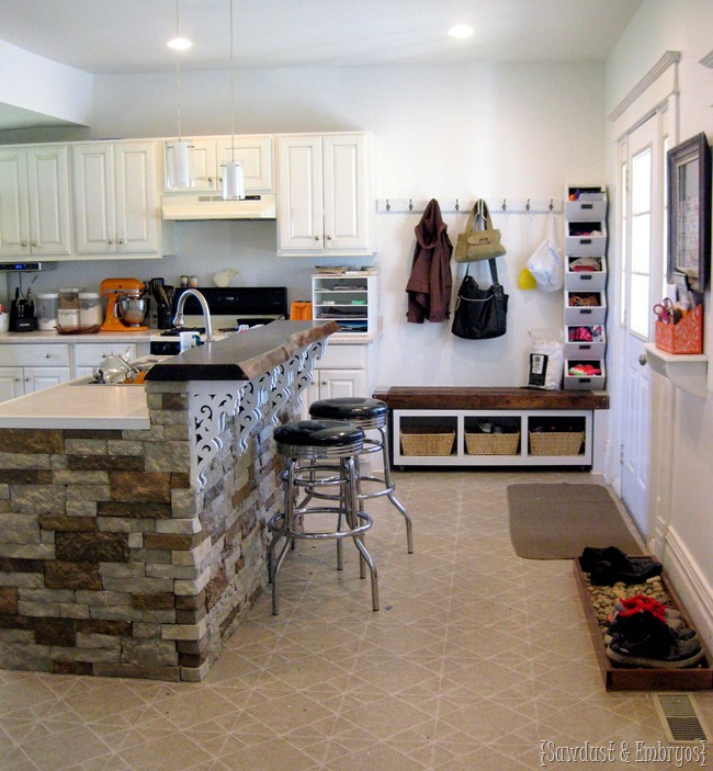 Painting white over a dark color ...The Kitchen {Sawdust and Embryos}