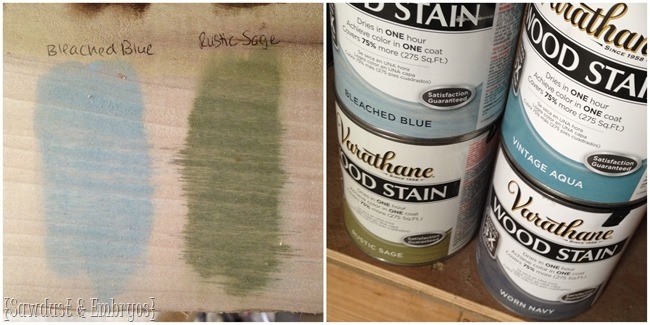 RustOleum's new stain colors {Sawdust and Embryos}