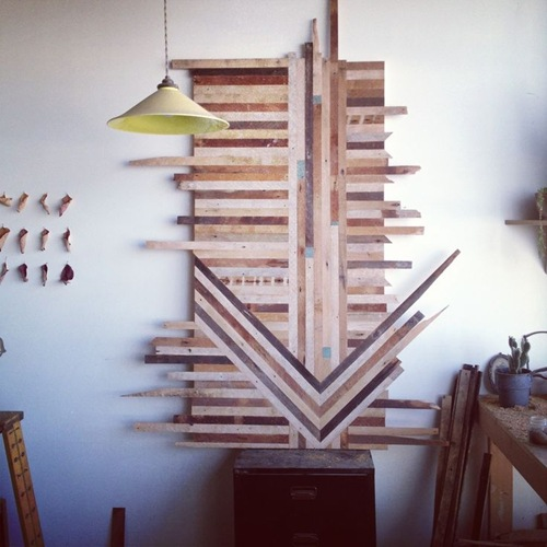Wall Art out of scraps of wood