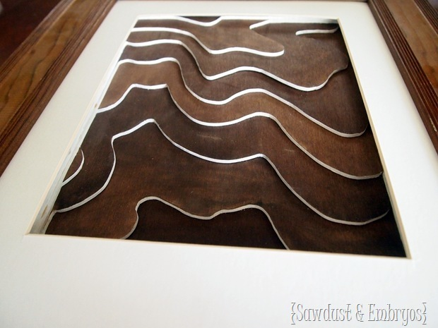 Cute Wooden Topography Art Tutorial Sawdust and Embryos