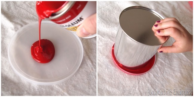 paint-dipped paint cans