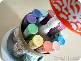 3-Tier Crafty Organizer using old tins and candlesticks! {Sawdust and Embryos}_thumb