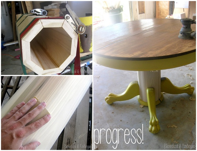 Antique Clawfoot Table restoration {Sawdust and Embryos}
