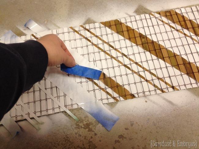 Creating custom wall art with bamboo shades {Sawdust and Embryos}
