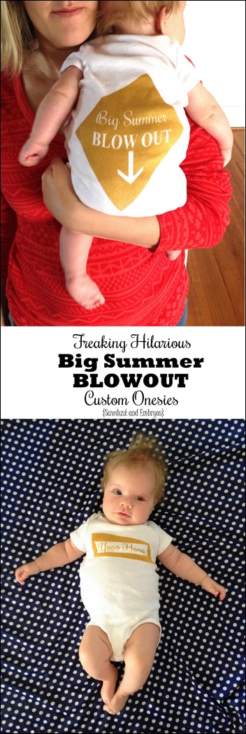 Make light of your baby's BLOWOUT by making this custom onesie with a quote from Frozen... hilarious! {Sawdust and Embryos}