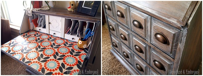 Secretary Desk Transformation {Sawdust and Embryos