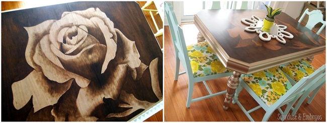 Stained Dining Table {Sawdust and Embryos}