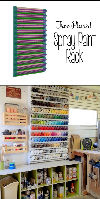 Giant Spray Paint Rack... FREE building plans!