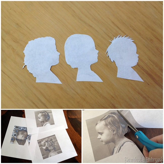 How to make wooden profile plaques of your children [Sawdust and Embryos}