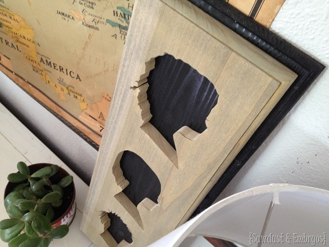 Kids' silhouettes cute out of wood using a scroll saw! Step by Step tutorial {Sawdust and Embryos}