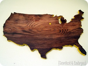 United States Plaque cut using a scroll saw {Sawdust and Embryos}_thumb