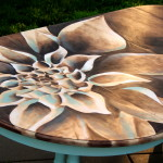 Wood Stain Art – Dahlia Dining Table