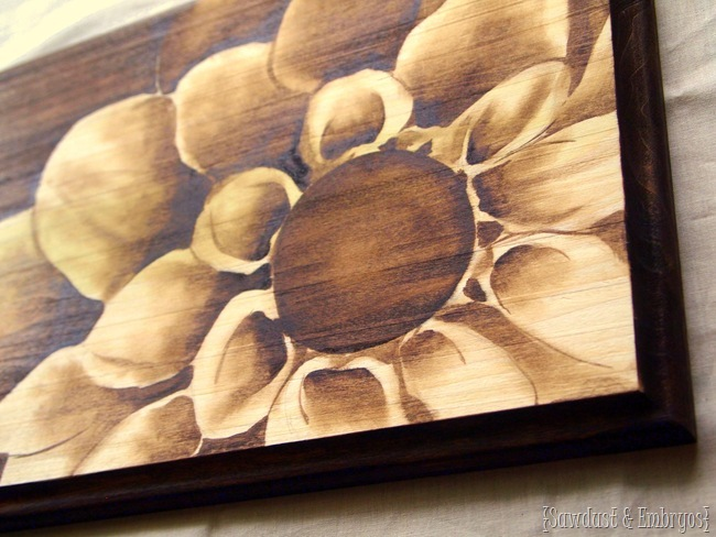 Wood Stained Artwork {Sawdust and Embryos}