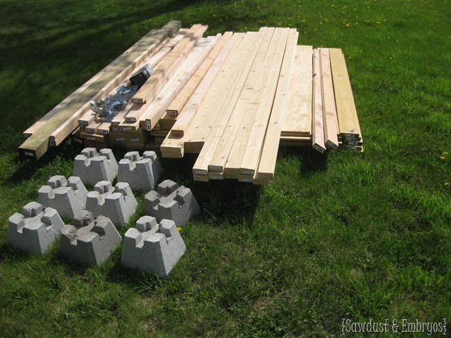 Lumber for playhouse {Sawdust and Embryos}