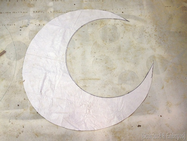 Moon template for moon prop infant photography {Sawdust and Embryos}