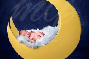 DIY Newborn Photography Prop {Moon Prop}
