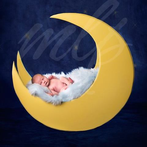 Newborn Baby Photography Props Wopohy Moon Pillow Posing Aid Pillow for Babies and Girls Decoration Half Moon Posing Cushion Accessories DIY Newborn Shooting Props