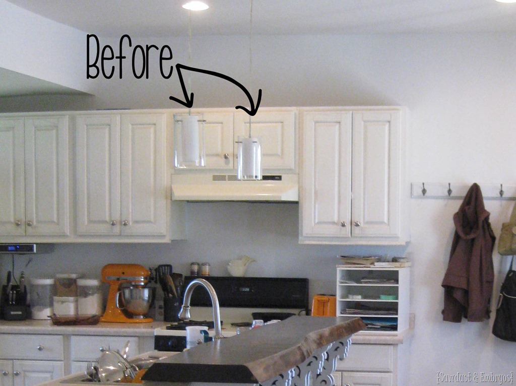 Exceptional Before Pic Of Kitchen Pendant Lights {Sawdust And Embryos}