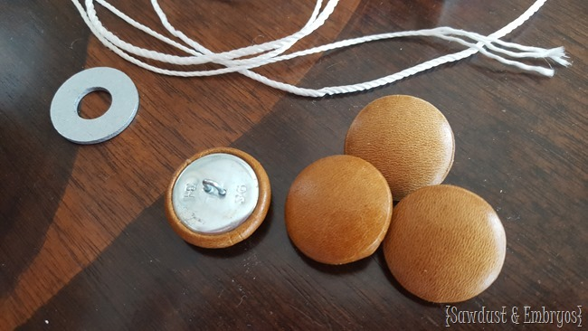 Covering buttons in leather