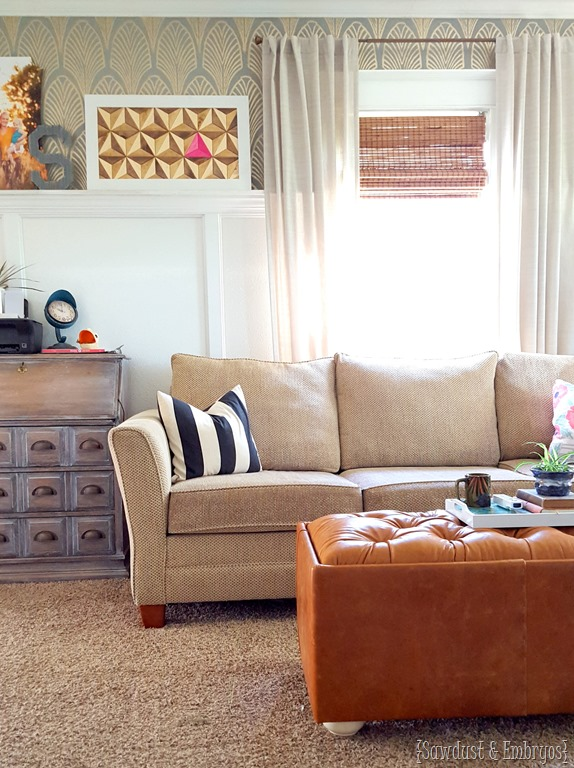 DIY Leather Upholstered Storage OttomanReality Daydream