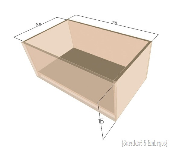 Dimensions of leather tufted ottoman