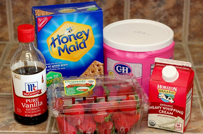 Ingredients for Strawberry Icebox Cake
