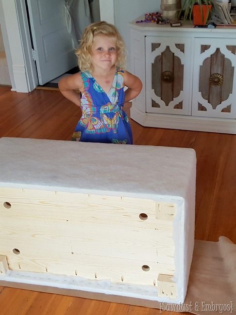 Little upholstery helper {Sawdust and Embryos}