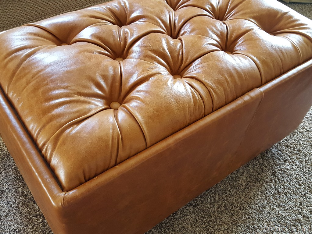 Make Your Own Leather Tufted Storage Ottoman! {Sawdust And Embryos}