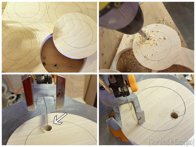 Making DIY pendant lights for above kitchen island {Sawdust and Embryos}