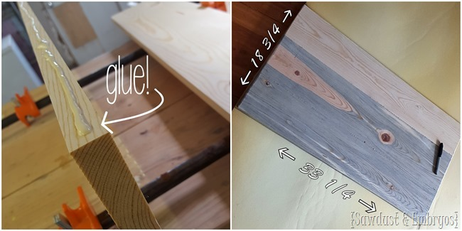 Making a diamond tufted ottoman lid {Sawdust and Embryos}