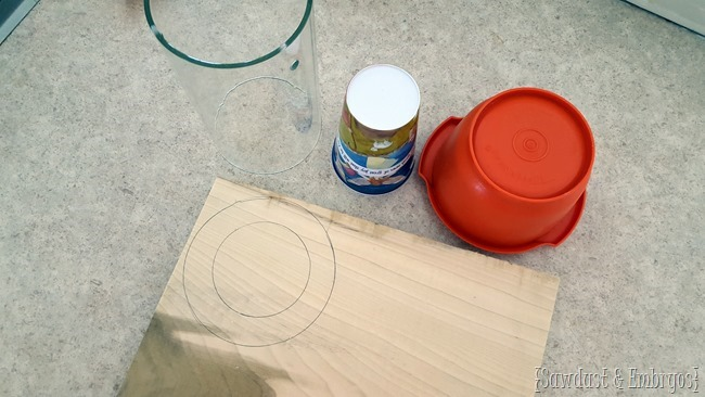 Making a pendant light with embroidery hoops {Sawdust and Embryos}