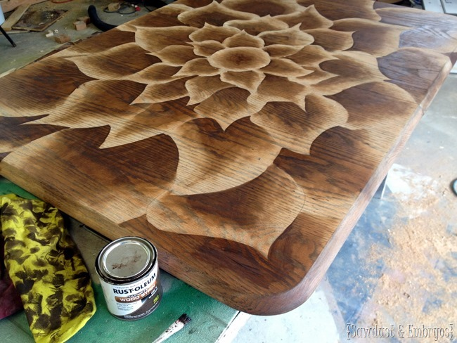 Shading with wood stain technique - by Sawdust & Embryos