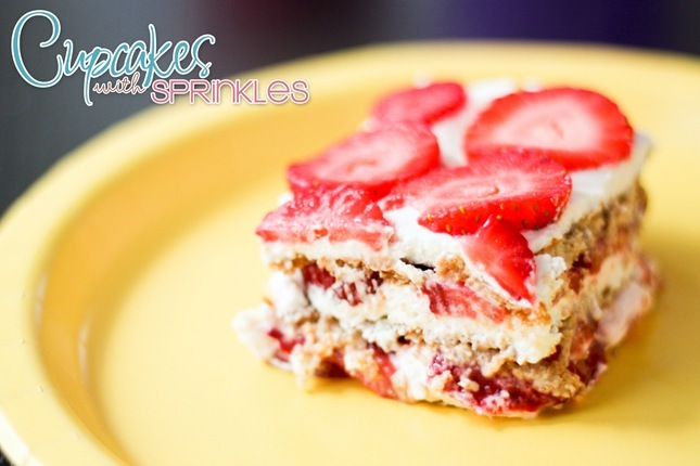 Strawberry Icebox Cake ...super simple recipe!