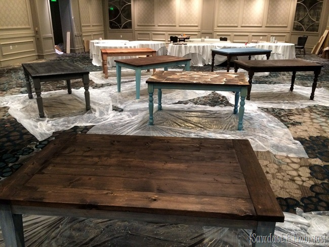 Tables built for Habitat for Humanity at Haven Conference {Sawdust and Embryos}
