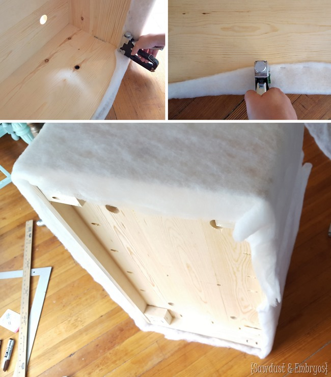 Building your own tufted ottoman is easy with this tutorial