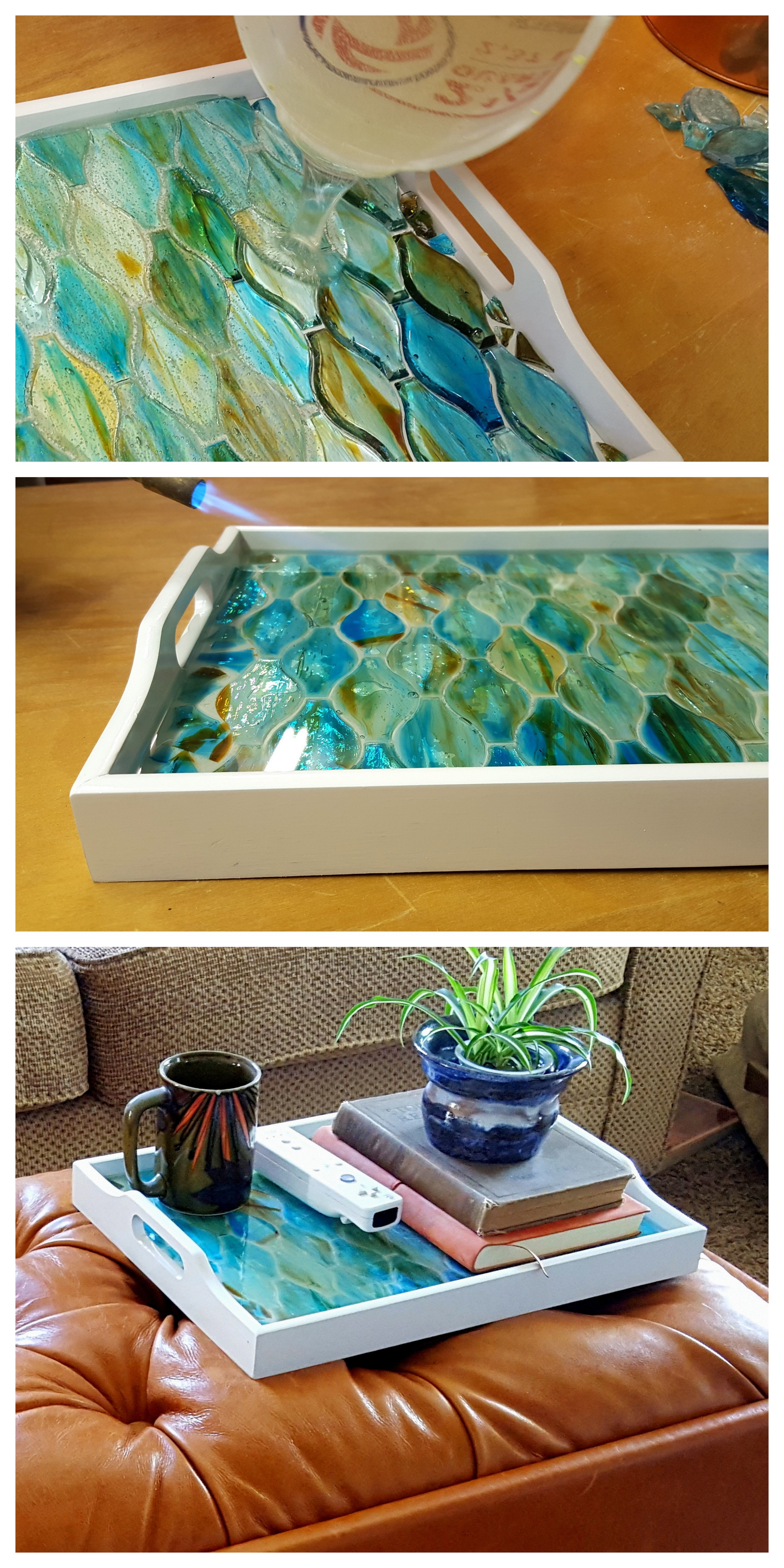 Nice Make An Old Tray Into A Gorgeous Decorative Mosaic Tray Using Just About  ANYTHING As The